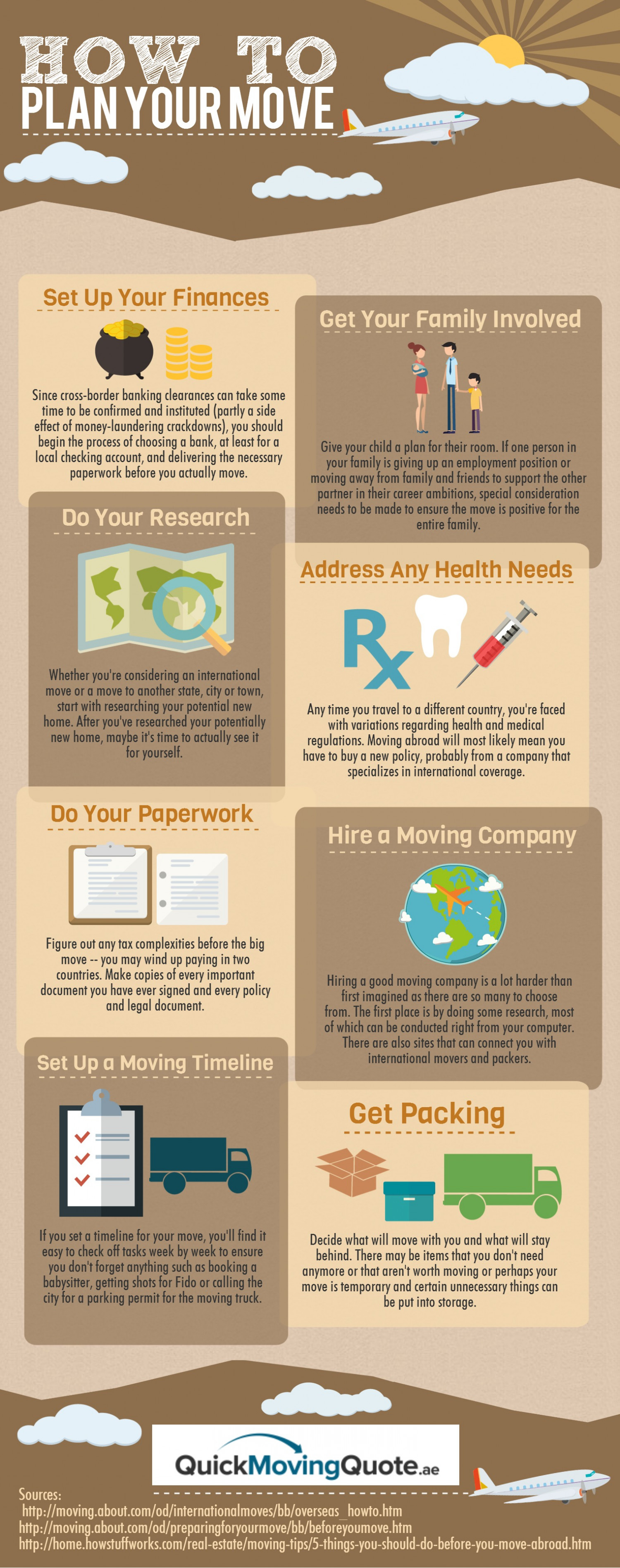 How To Plan Your Move Infographic