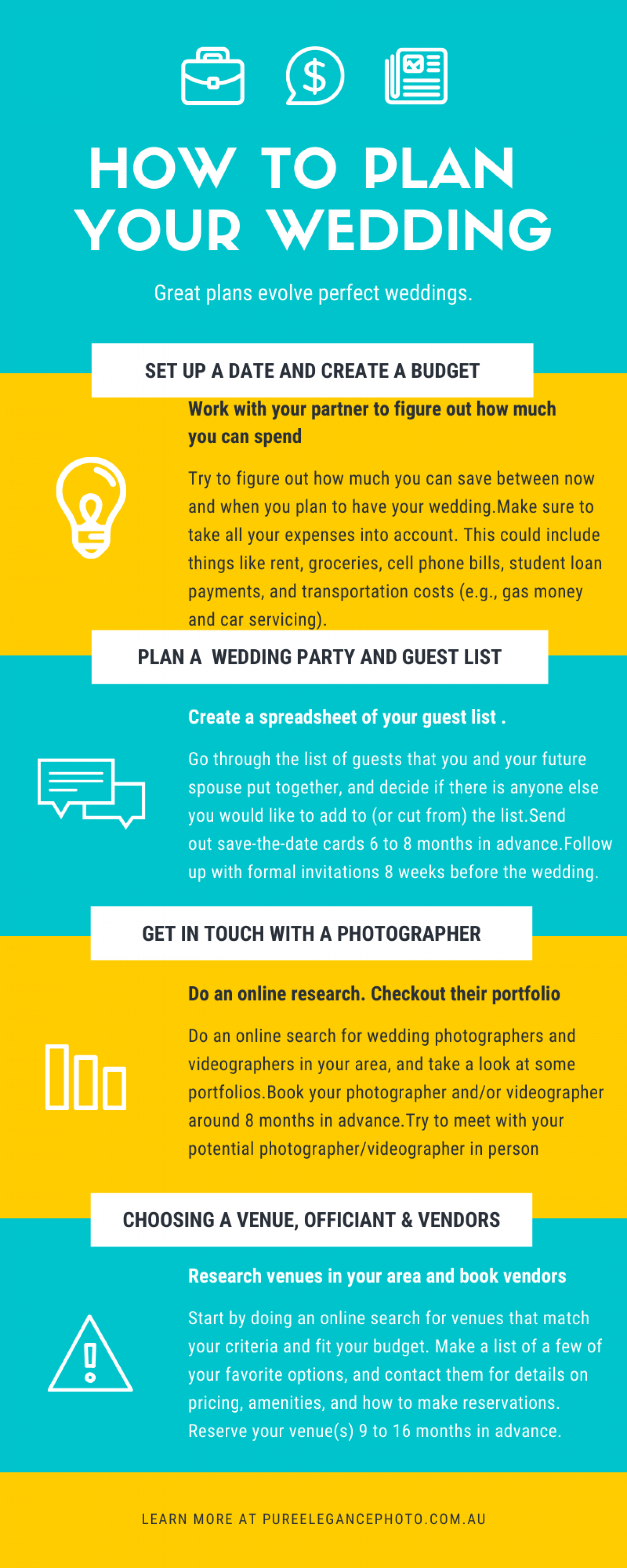 How to plan your wedding  Infographic