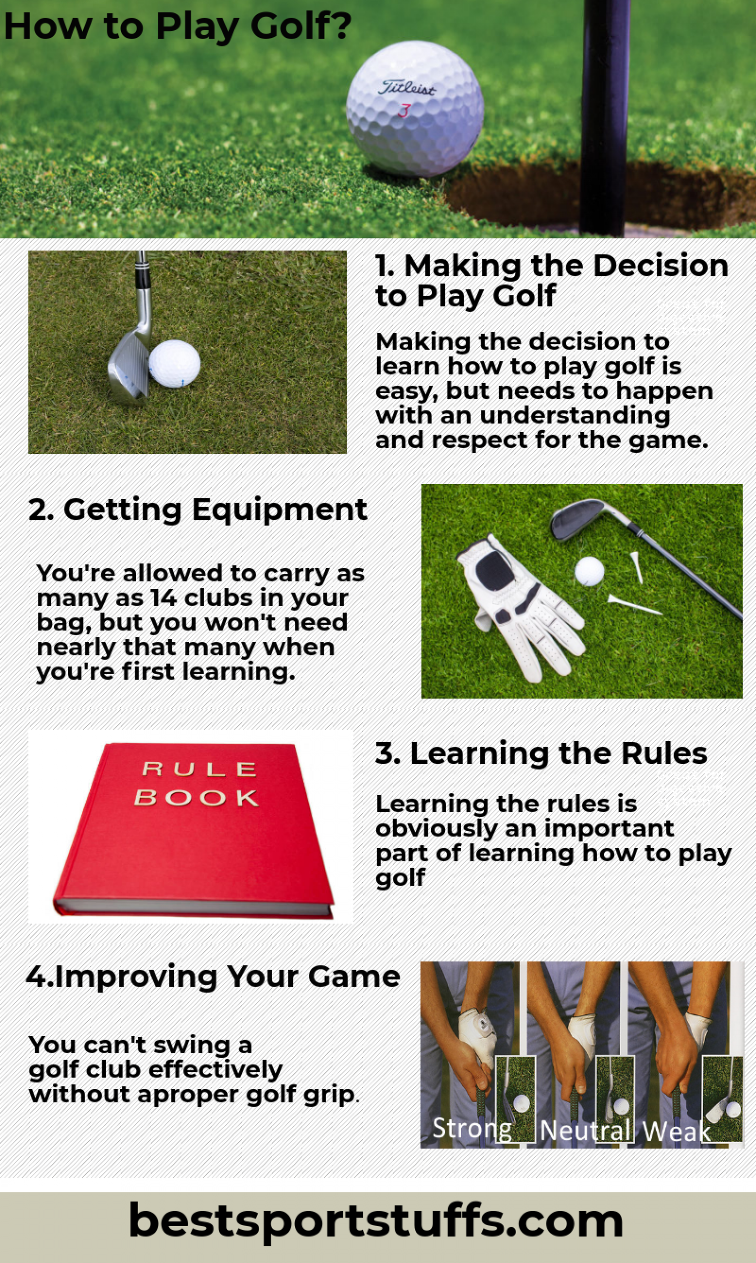 How to play Golf?  Infographic