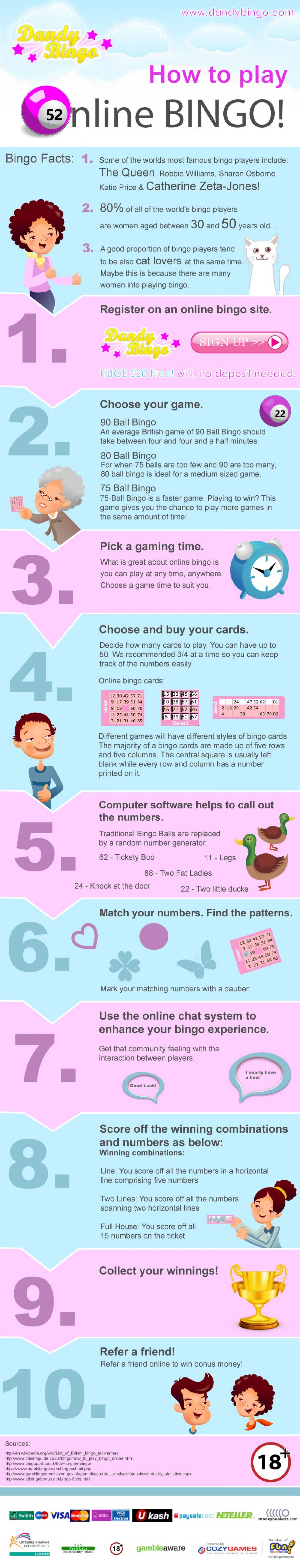 How To Play Online Bingo Infographic