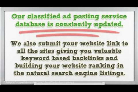 How to post your ad to 10,000+ classified ad sites in a few clicks Infographic