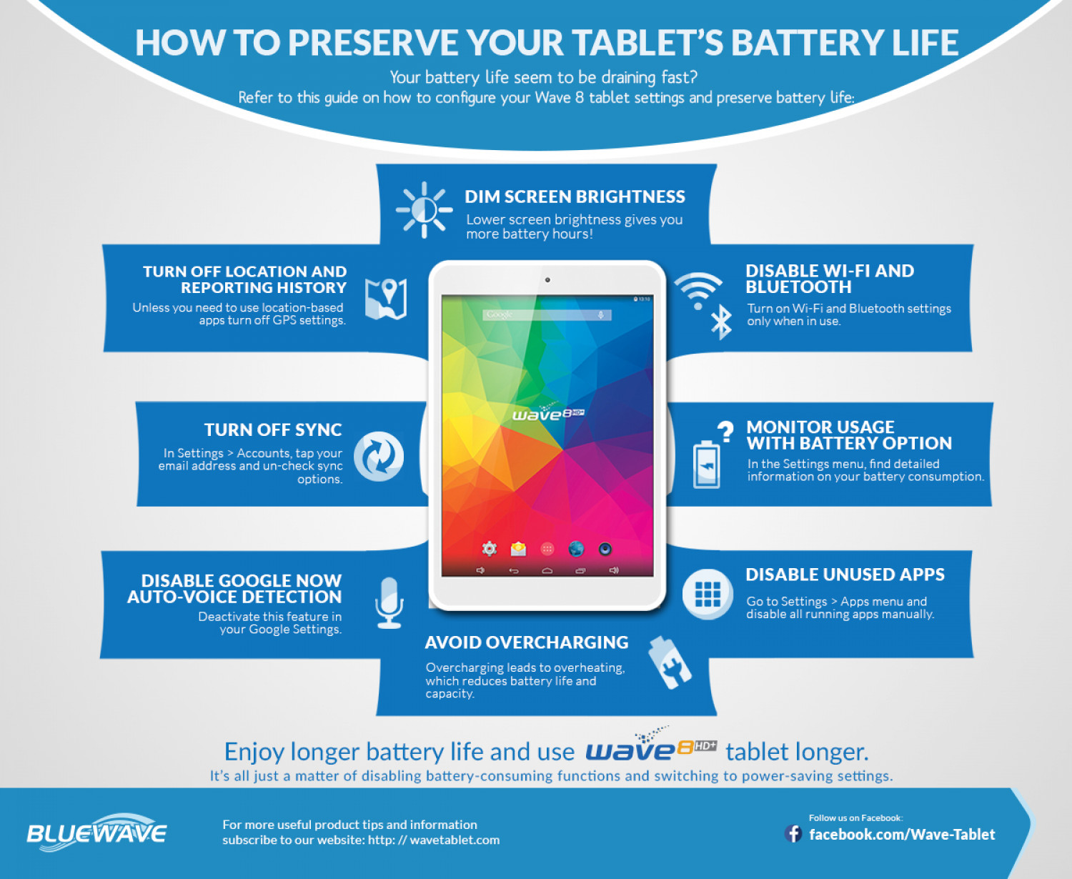 How to Preserve Your Tablet's Battery Life Infographic