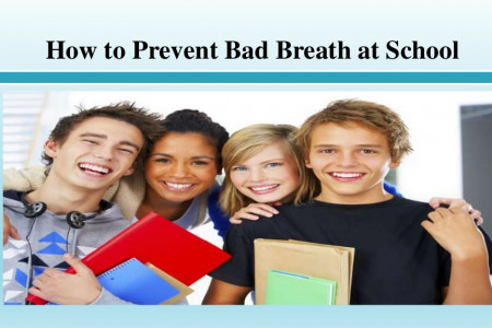 How to Prevent Bad Breath at School Infographic