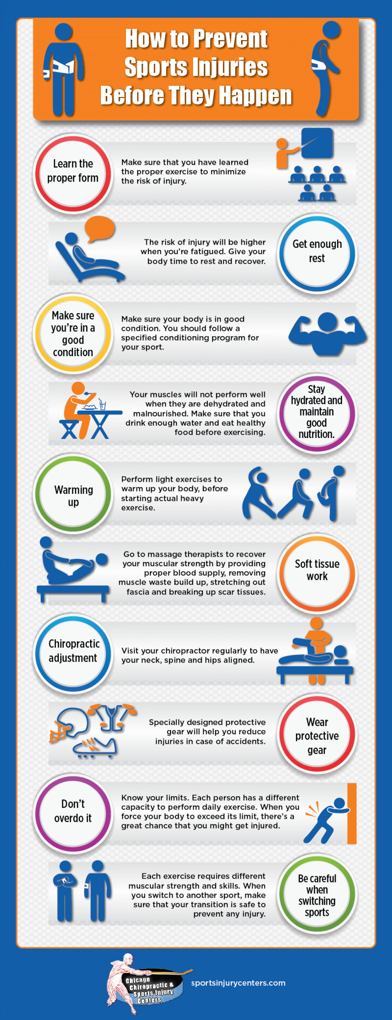 How To Prevent Sports Injuries Before They Happen Infographic