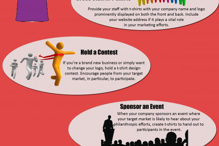 How to Promote a Small Business with T-Shirts Infographic