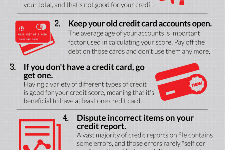 How To Raise Your Credit Rating Fast With Five Easy Steps Infographic