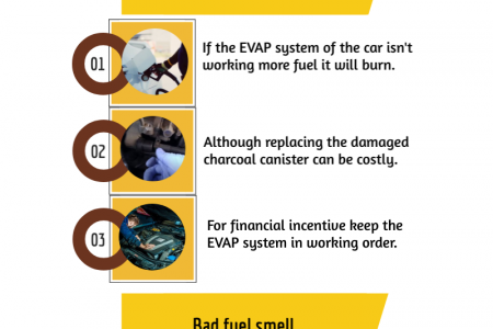 How to recognize the damaged charcoal canister in your car Infographic