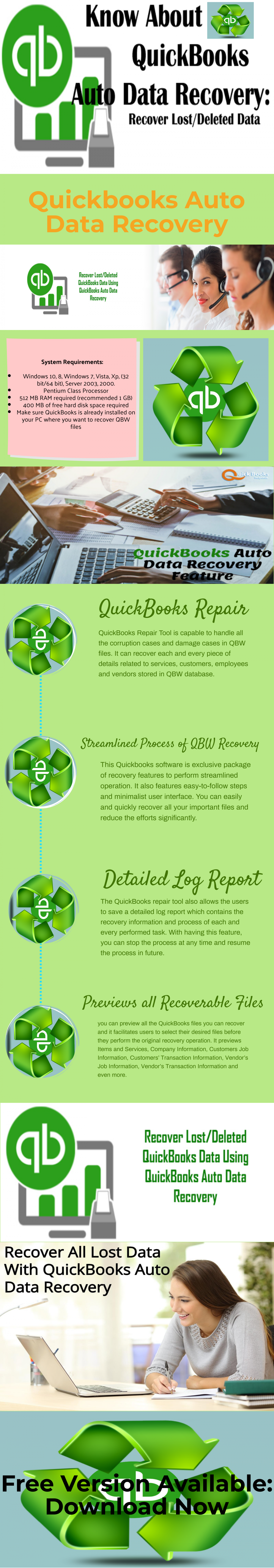 How to Recover Quickbooks Errors With Quickbooks Data Recovery Software Infographic
