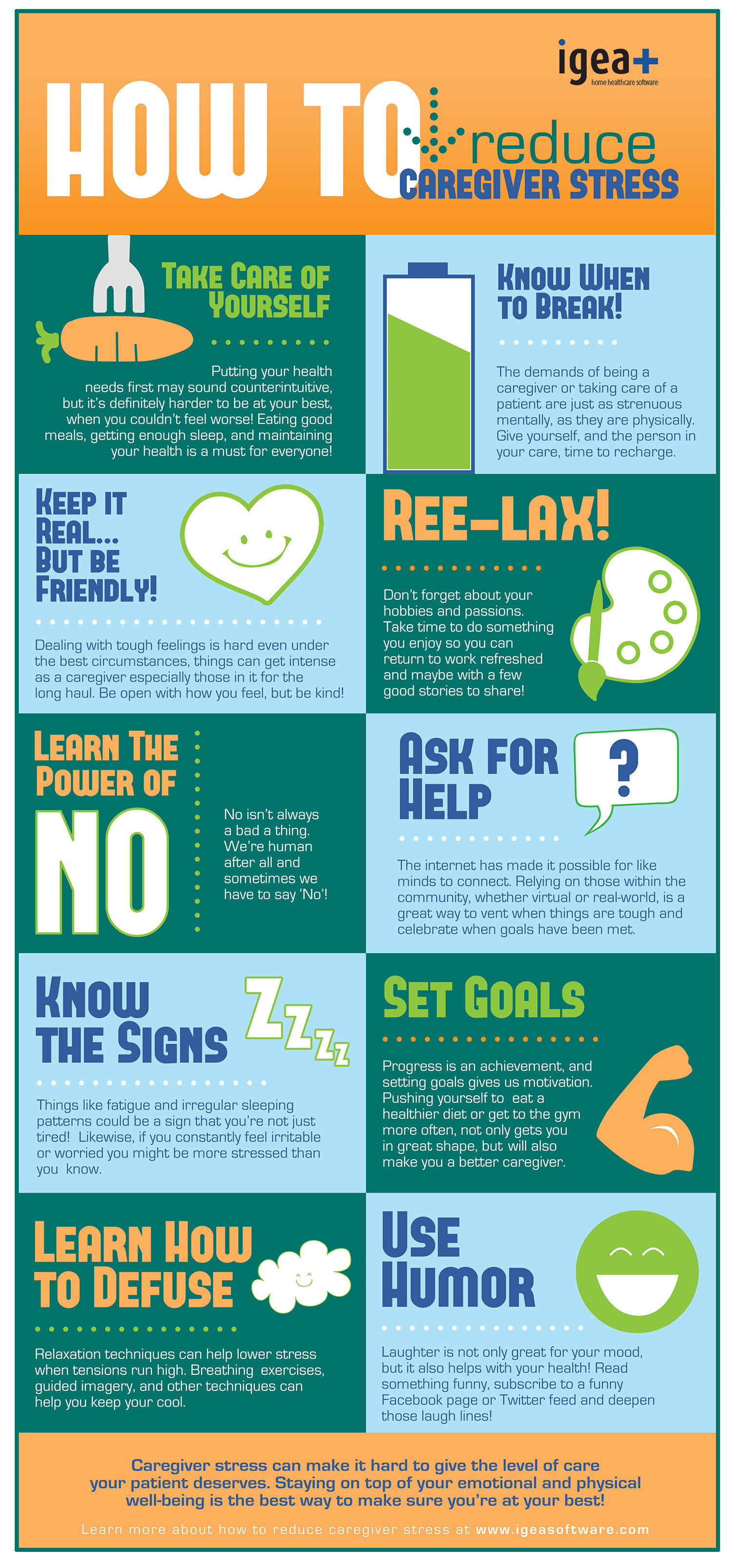 How to Reduce Caregiver Stress Infographic