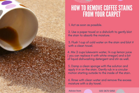 How to remove coffee stains from your carpet Infographic