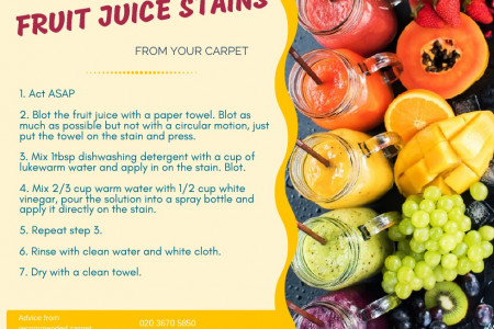 How to remove fruit juice stains from your carpet Infographic
