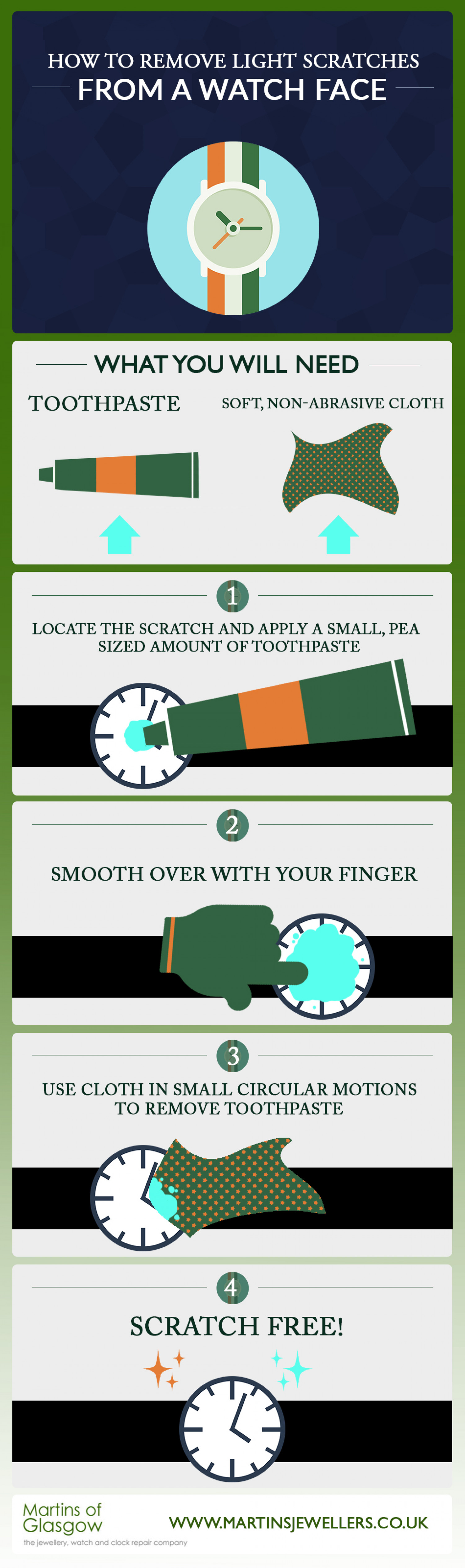 How To: Remove Light Scratches From A Watch Face  Infographic