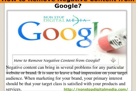 How to Remove Negative Content from Google? Infographic