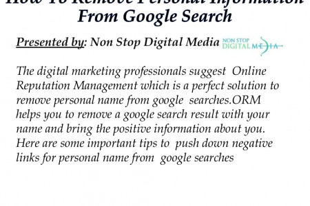 How To Remove Personal Information From Google Search Infographic