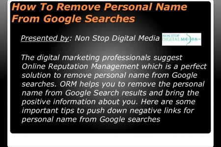How To Remove Personal Name From Google Searches Infographic