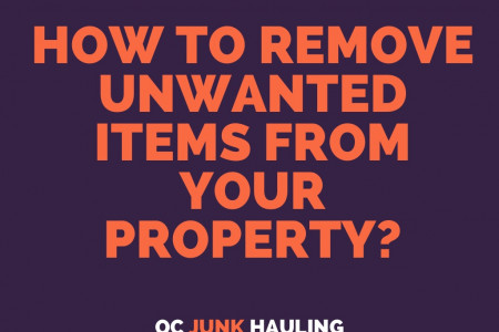 How to remove unwanted items in your property? Infographic