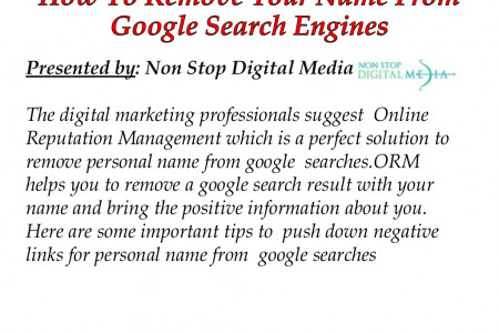 How To Remove Your Name From Google Search Engines Infographic