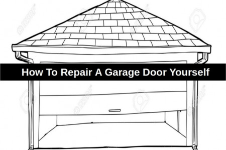 How to Repair a Garage Door Yourself Infographic