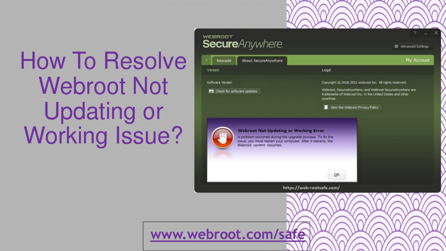 How To Resolve Webroot Not Updating or Working Issue? Infographic
