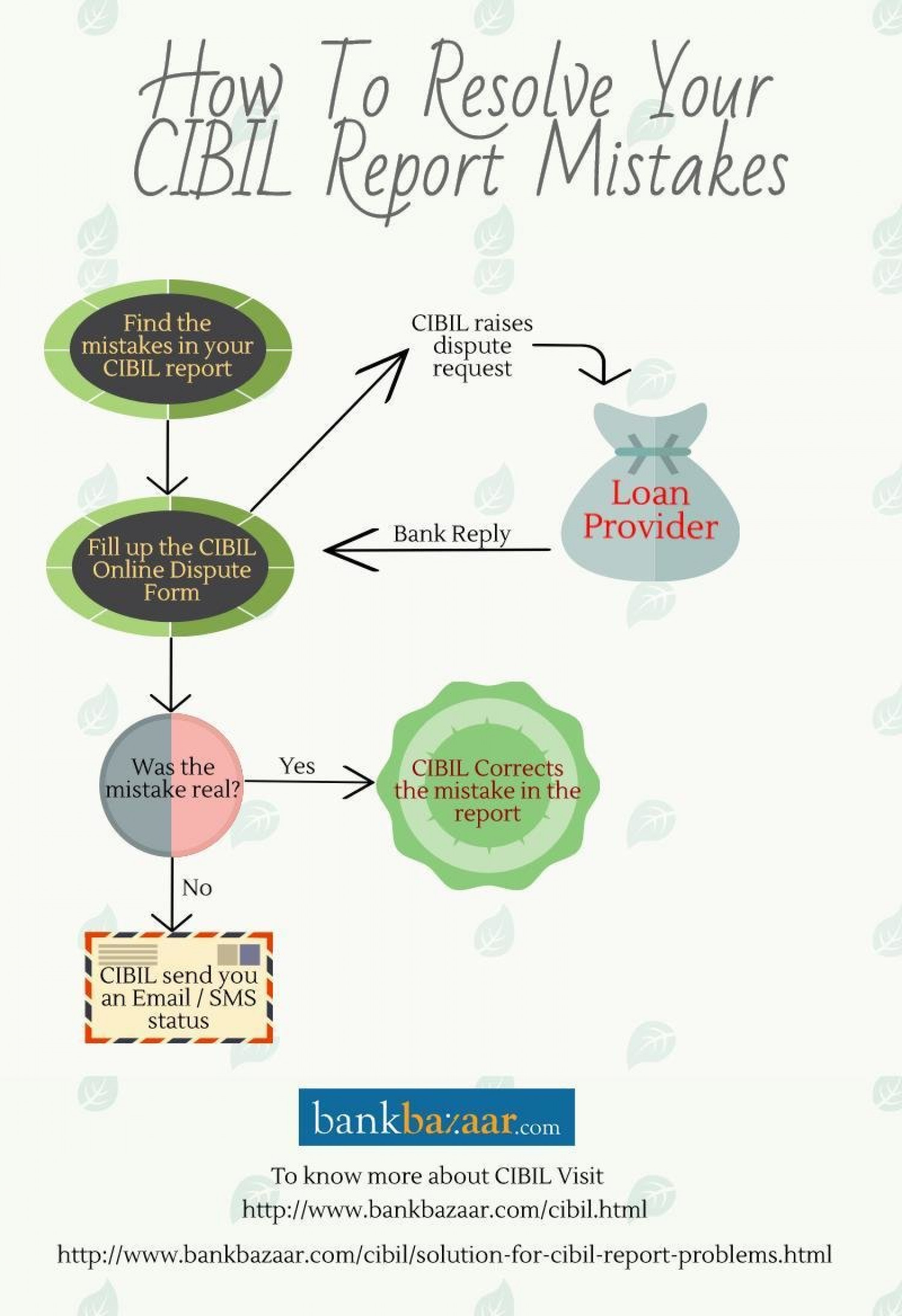 How to resolve your CIBIL Report mistakes! Infographic
