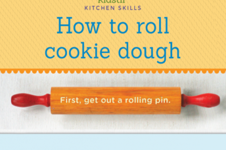 How to Roll Cookie Dough Infographic