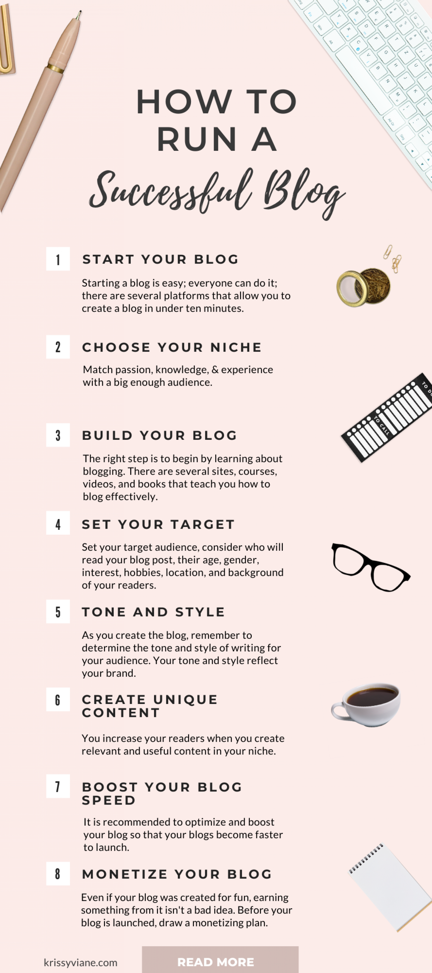 How to run a successful blog for your business Infographic