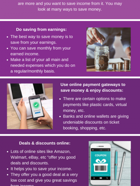 How To Save Money And Improve Your Finances Infographic