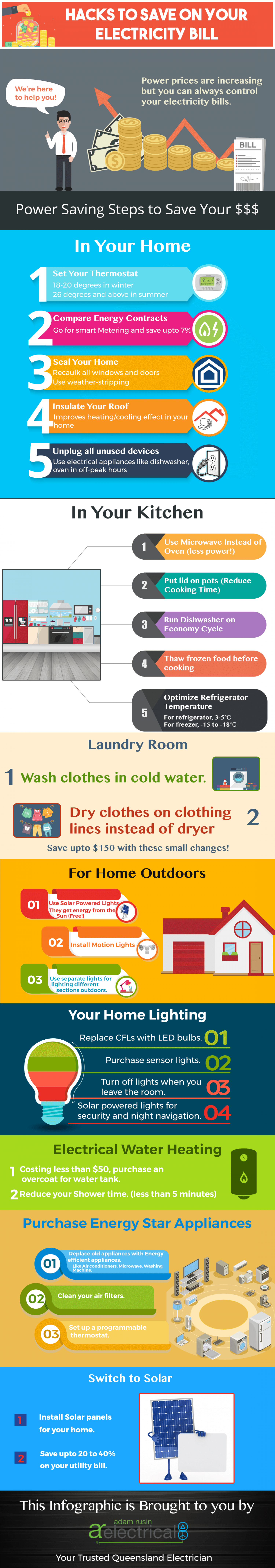 How to Save on Your Electricity Bill at Home?  Infographic