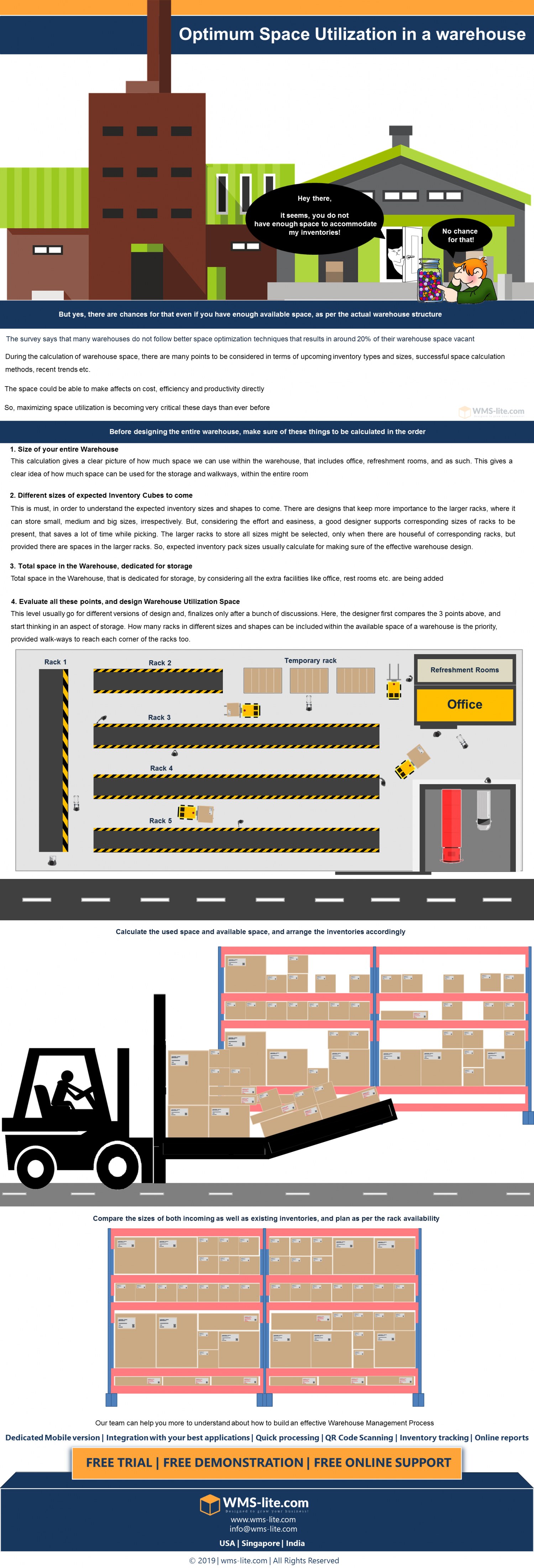 How to save the space in your Warehouse for an Optimum utilization Infographic