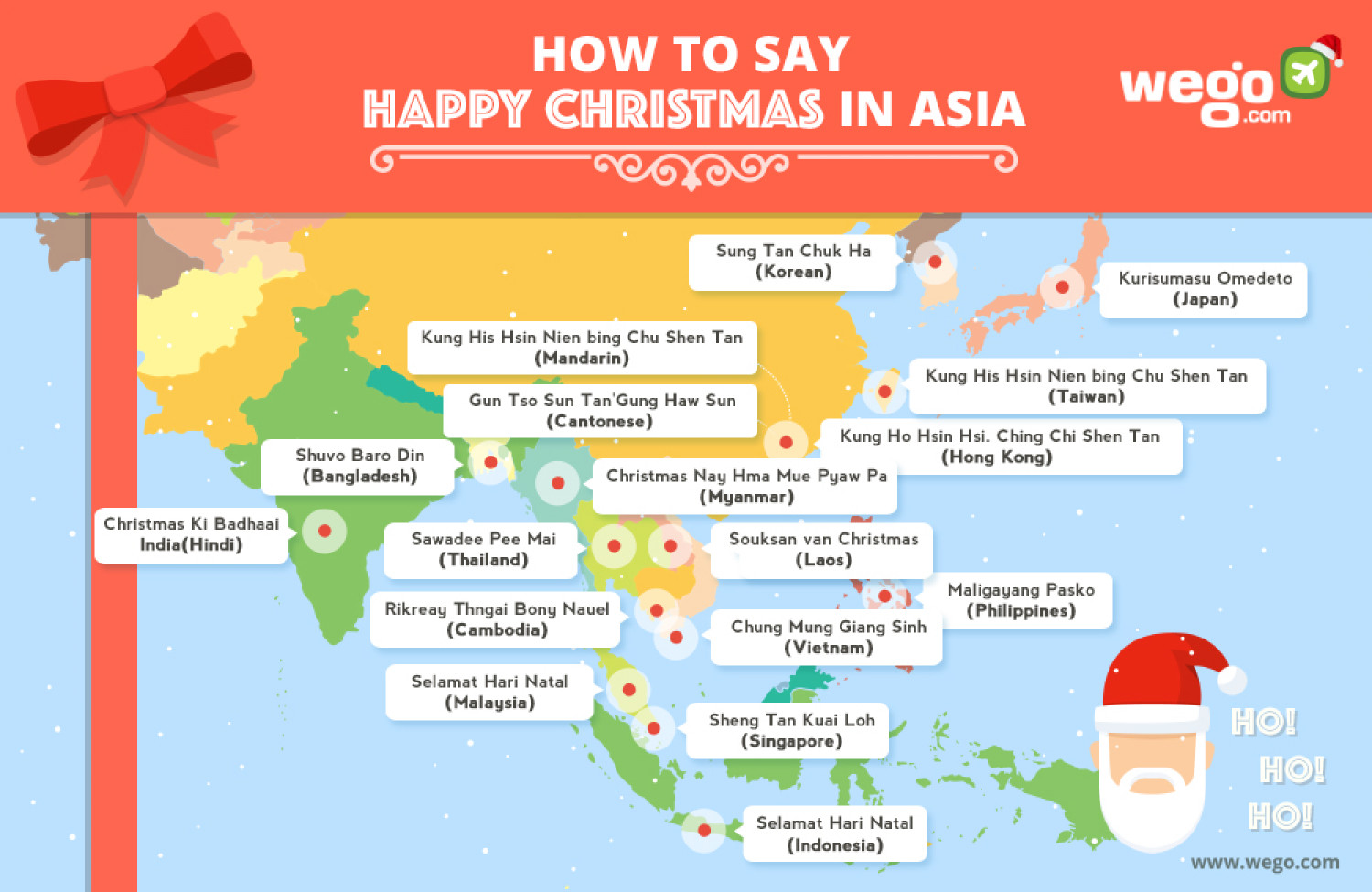 how to say happy christmas in asia infographic