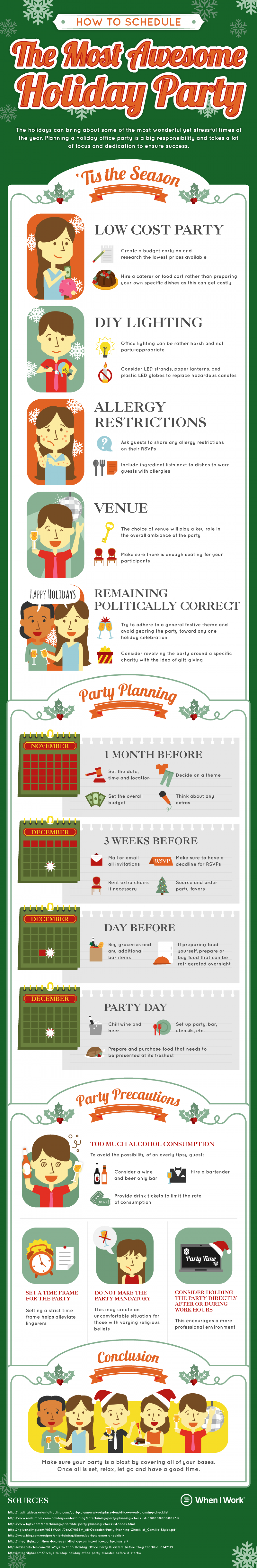 How To Schedule The Most Awesome Holiday Party Infographic