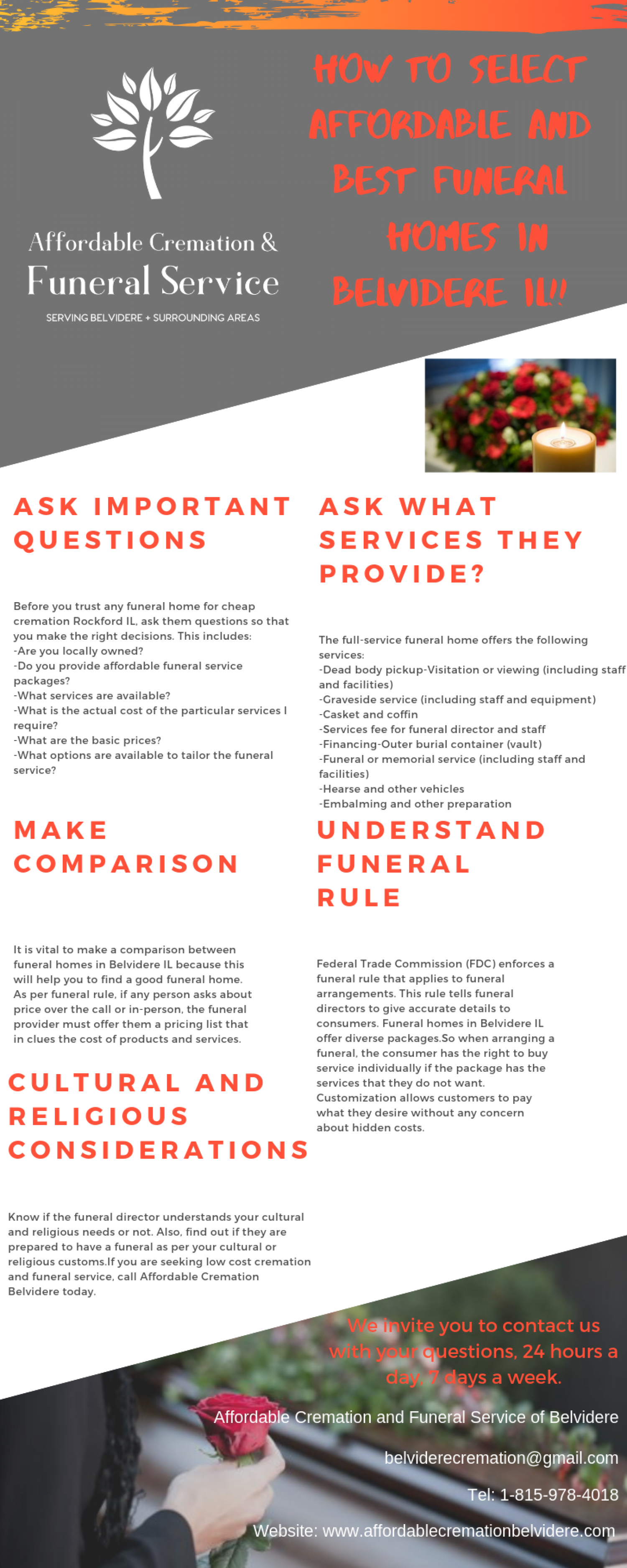 How to select Affordable and best Funeral Homes in Belvidere IL !! Infographic