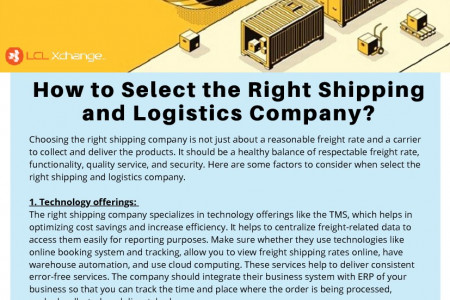 How to Select the Right Shipping and Logistics Company? Infographic