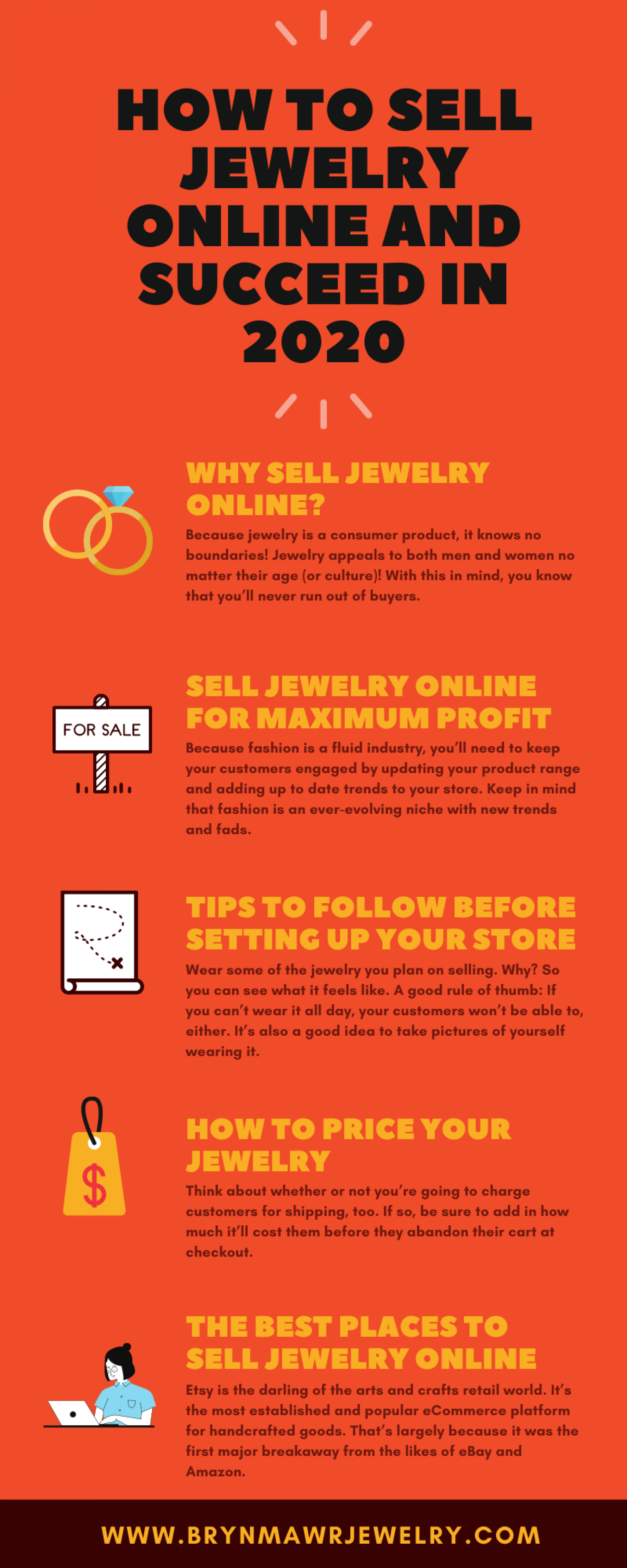 How To Sell Jewelry Online And Succeed In 2020 Infographic