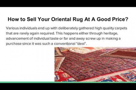 How to Sell Your Oriental rug At a Good Price? Infographic
