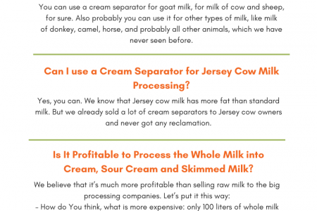 How to Separate Cream from Milk - Milky Day Infographic