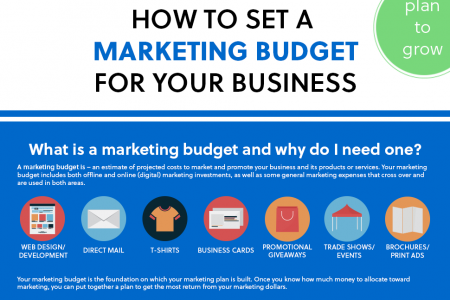 How To Set A Marketing Budget For Your Business Infographic