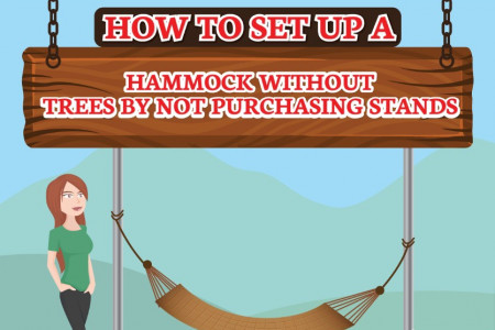 How to set up a hammock without using trees Infographic