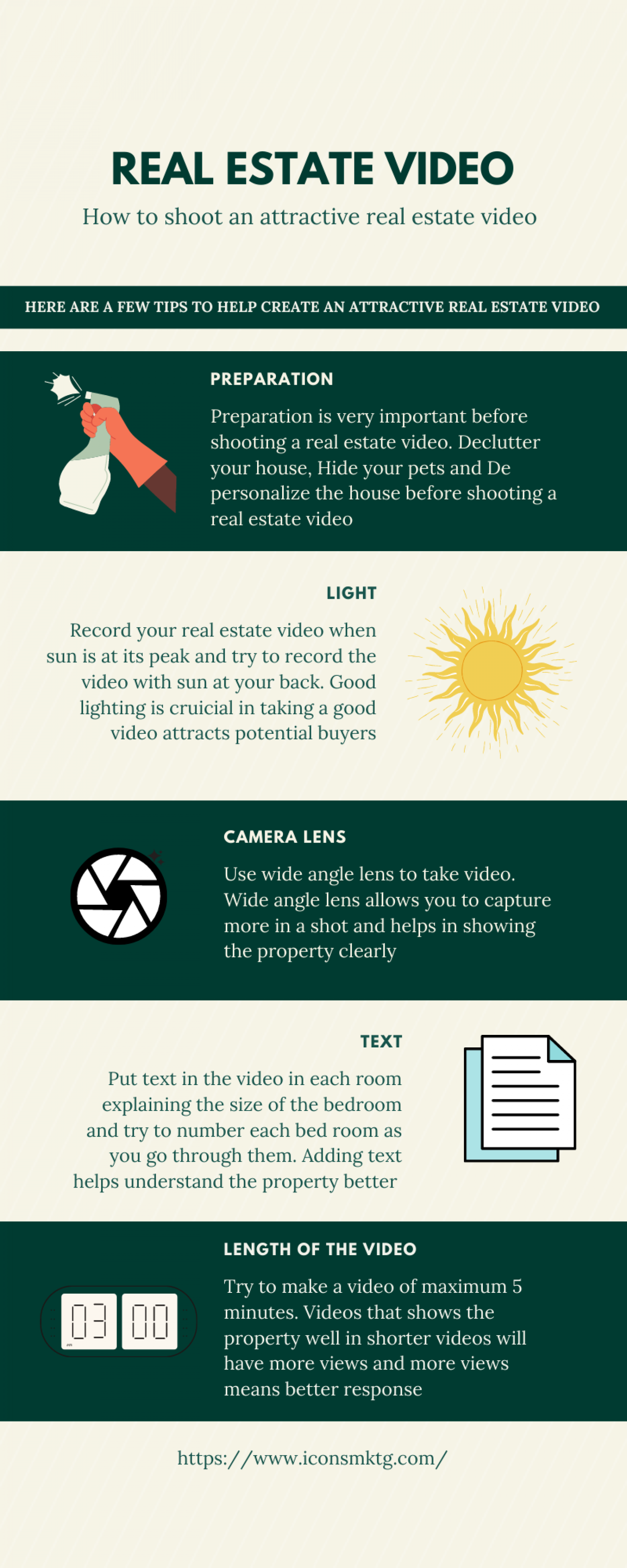 How to shoot an attractive real estate video Infographic