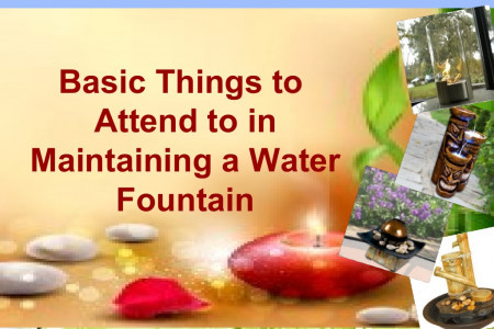How to Simply Maintain a Water Fountain Infographic