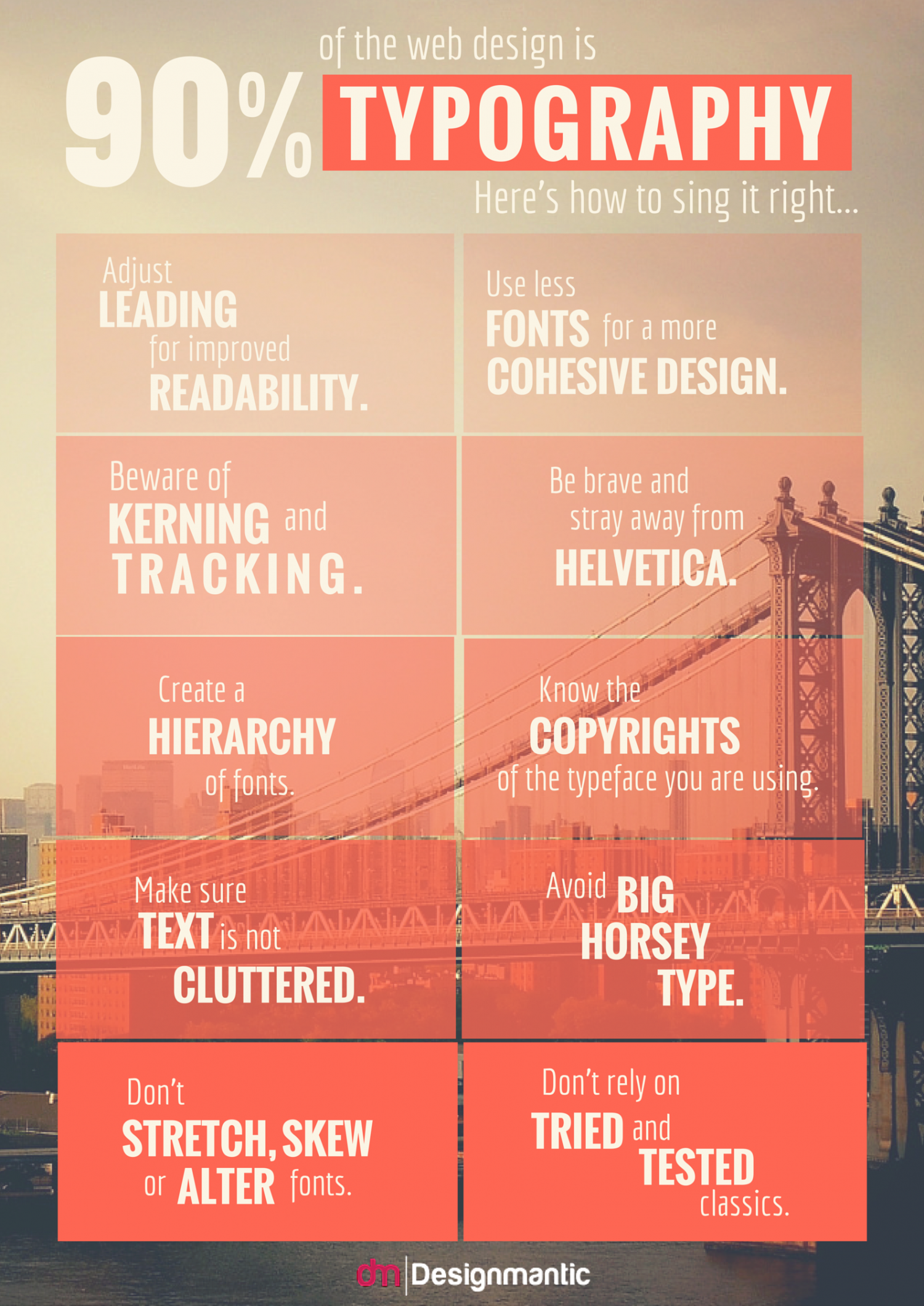 How To Sing Typography Right? Infographic