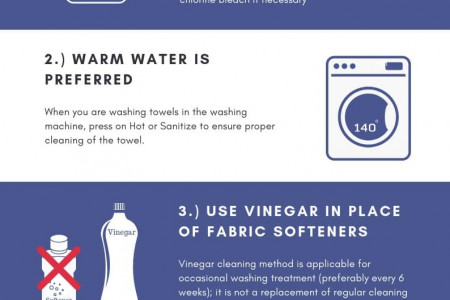 How To Soften Towels Infographic