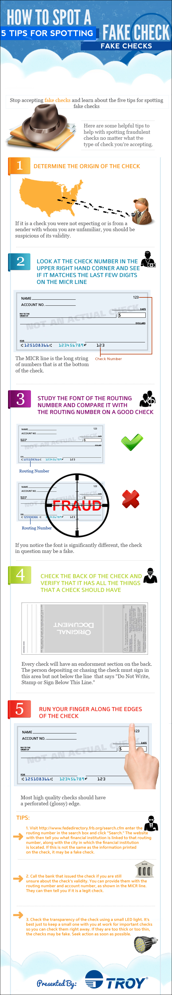 How To Spot A Fake Check Visual