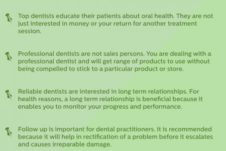 How to Spot the Best Dentist? Infographic
