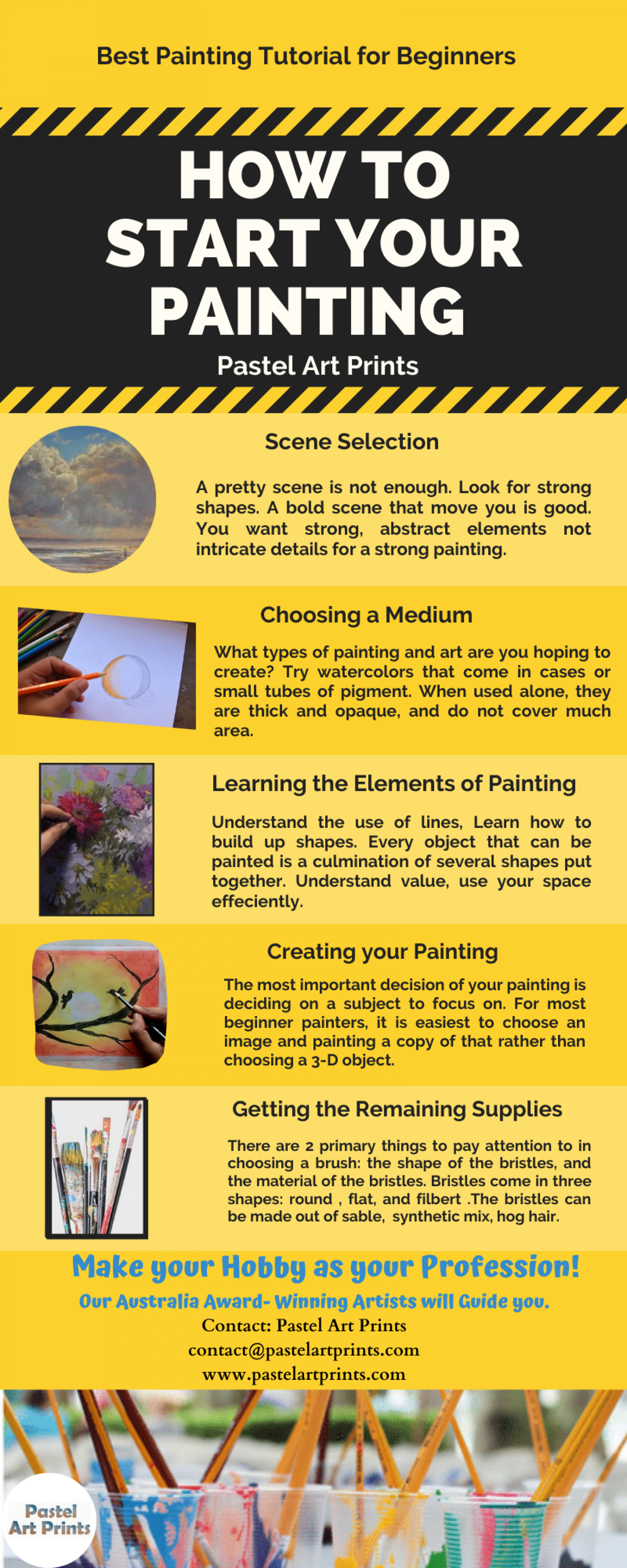 How to Start a Paint with Pastels- Pastel Painting Tutorial  Infographic