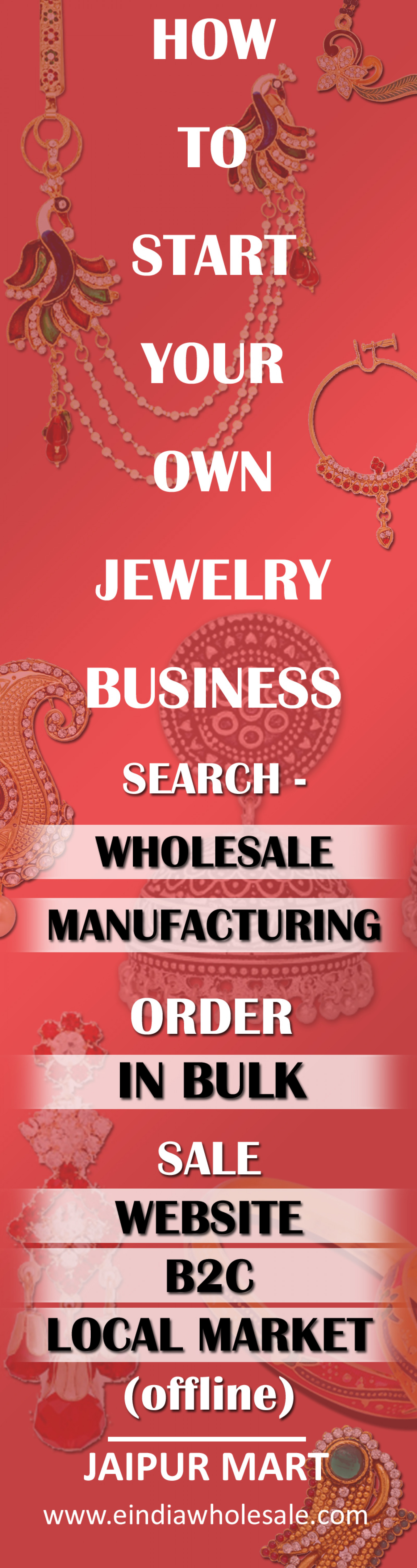 How to Start Jewelry Busines Infographic