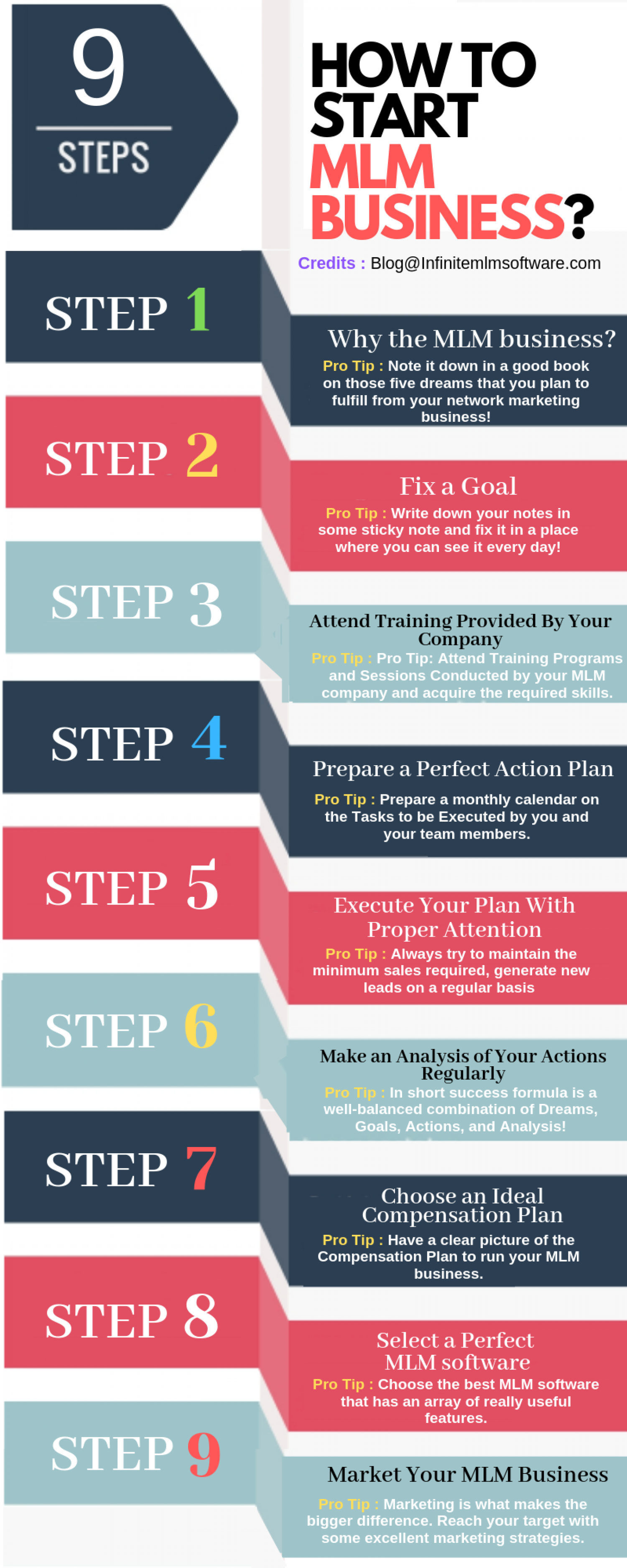 How to start MLM Business - Network Marketing opportunity Infographic