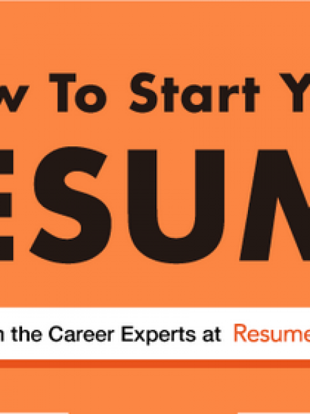 How To Start Your Resume (Flow Chart) Infographic