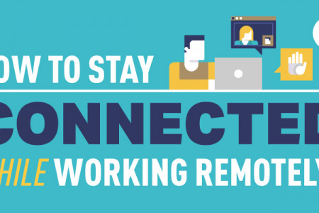 How To Stay Connected While Working Remotely Infographic