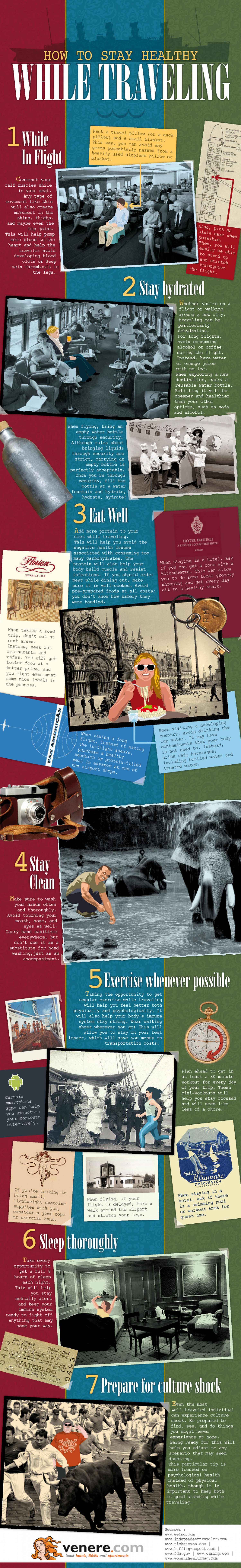 How To Stay Healthy While Traveling Infographic
